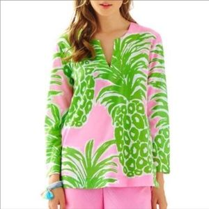 Lilly Pulitzer Flamenco pink and green tunic